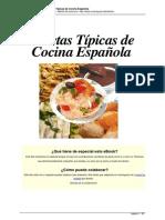 Recetas Tipicas de Cocina Espanola