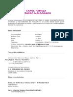 Cv Pizarro Maldonado Carol
