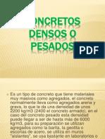 Concretos Densos o Pesados 2012