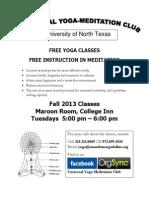 Yoga Poster Unt Fall 2013