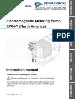 Walchem Pump EWN-Y Series Manual