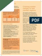 Grazing Winter Cereals in Low Rainfall