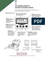 Walchem Pump EZ Timer Module Instructions, EZB, EZC