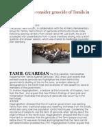 UK Politicians Consider Genocide of Tamils in SL