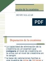 Depuración de la creatinina, compuestos nitrog