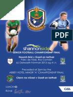 2013 Shannonside SFC Final Programme