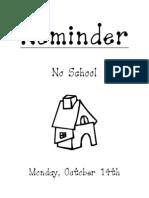 flyer-no school