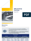 HELLA Group Overview August 2013 2007-2010