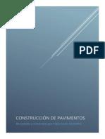 Construcción de pavimentos