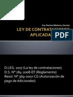 Ley de Contrataciones Aplicada a Obras