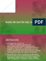 presentacion base de datos sql server