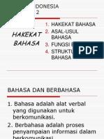 Hakekat Bahasa 1