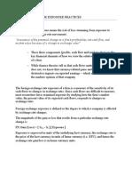 Foreign Exchange Exposure Practices