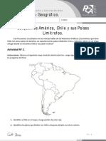 FICHA 6, UBIQUEMOS AMÉRICA, CHILE Y SUS PAÍSES LIMÍTROFES