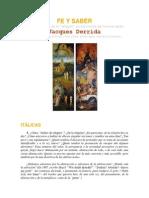 FE Y SABER El problema de la religion en debate con Vattimo por Jaques Derrida.docx