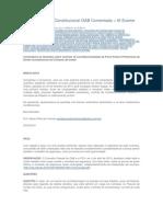 Prova Prática D. Constitucional OAB Comentada – IX Exame de Ordem