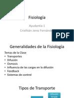 Fisiología Ayudantía 01 - Generalidades