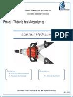 Rapport Ecarteur hydraulique - projet théorie des mécanismes - FayssaL El haddad & Othmane Aboulhassane