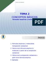 Tema 2 Formulas Empiricas y Moleculares