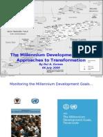 Dr Rui Gomes - 2009 Presentation on the Millenium Development Goals