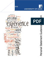 Personal Statement Guidance 2013 14