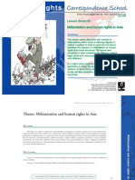 Militarization and human rights in Asia