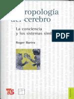 Antropologia Del CerebroBARTRA Roger 2006