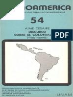 Cesaire, Discurso Sobre El Colonialismo
