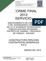 Liquidacion Final de Servicio - Yanama