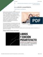 Craig Mod Libros y Edicion Posartefacto Anatomia de La Edicion