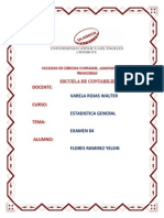 Examen 04 - Estadistica General