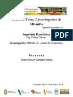 Método por unidad de producción y método de depreciación por porcentaje fijo