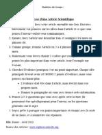 Sciences 10F - Analyse d'Une Article Scientifique Handout