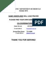 Eucharistic Ministers OCT 2013