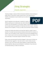 more teaching strategies for ortho