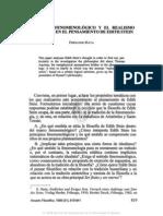 7. EL MARCO FENOMENOLÓGICO Y EL REALISMO METAFlSICO EN EL PENSAMIENTO DE EDITH STEIN, FERNANDO HAYA