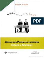 Adivinanzas populares españolas- estudio y antología By Pedro C. Cerrillo