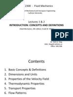Lectures 1-2 Introduction Fluid Mechanics1