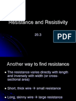 20-3 Resistance and Resistivity