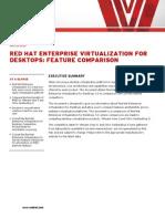 Rhev for Desktops Feature Comparison