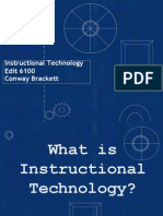 definition of instructional technoloy