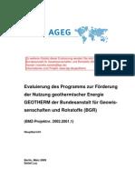 Evaluierung des globalen GEOTHERM Vorhaben der BGR