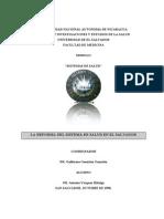 La Reforma Del Sistema de Salud en El Salvador