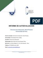 Informe de Autoevaluación Educación Primaria_Universidad de Piura