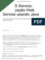 JAX-WS Service_ Autenticação Web Service usando Java