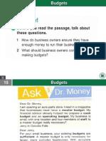 Finance - Budgets