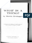 What is a Thing by Martin Heidegger
