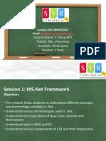 C Sharp.net Online Training Course Classes by SVR Technologies