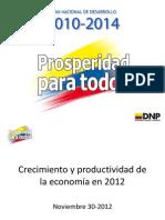 Presentacion productividad DNP
