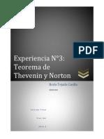 Informe 3 Teorema de Thevenin y Norton